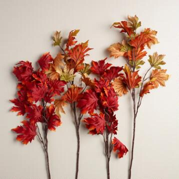Autumn Leaf Stems, Set of 2